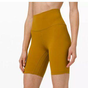 NWT Lululemon Align Bike Shorts Gold Spice Size 4